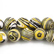 Compozit alb-negru-galben sfere 10mm