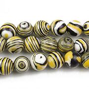 Compozit alb-negru-galben sfere 8mm