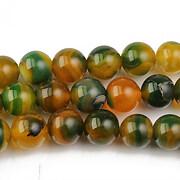 Agate striped sfere 8mm - autumn