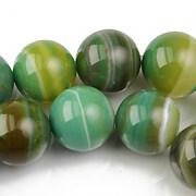 Agate striped sfere 14mm - verde