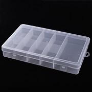 Cutie plastic pentru margele cu 9 compartimente fixe 24,5x14,5x3,5cm