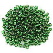 Margele de nisip cu foita 3mm (50g) - cod 572 - verde