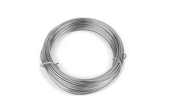 Sarma de modelaj aluminiu, grosime 1,5mm, pachet 10m - argintiu inchis