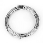 Sarma de modelaj aluminiu, grosime 2mm, pachet 5m - argintiu inchis