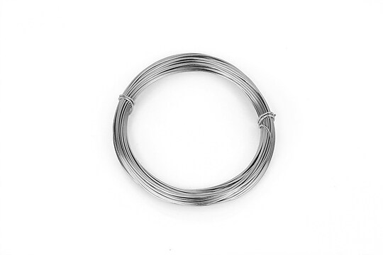 Sarma de modelaj aluminiu, grosime 1mm, pachet 10m - argintiu inchis
