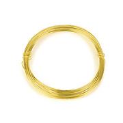 Sarma de modelaj aluminiu, grosime 0,8mm, pachet 10m - auriu