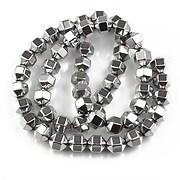 Sirag hematit argintiu inchis hexagonal 8x6mm