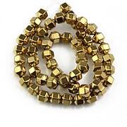 Sirag hematit auriu inchis hexagonal 8x6mm