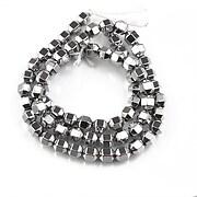 Sirag hematit argintiu inchis hexagonal 7x5mm