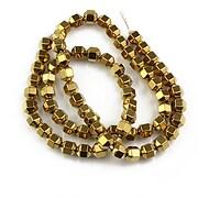 Sirag hematit auriu inchis hexagonal 7x5mm