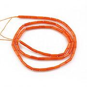 Sirag coral portocaliu tub 5,5x2,5mm