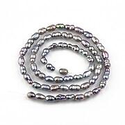 Sirag perle de cultura gri cu irizatii 5x4mm
