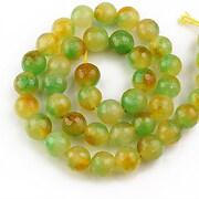 Sirag agate fatetate galben-verzui 10mm