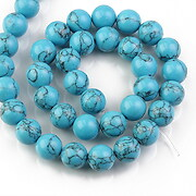 Sirag howlit albastru sfere 10mm