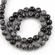 Sirag snowflake obsidian sfere 8mm