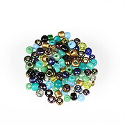 Margele de nisip mix 3mm (50g) - cod 746 - verde albastru