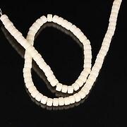 Sirag coral alb rondele 3-4x6mm