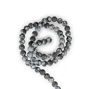 Sirag Snowflake Obsidian frosted (mat) sfere 6mm
