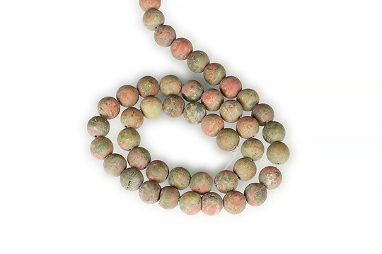 Sirag unakite frosted (mat) sfere 8mm