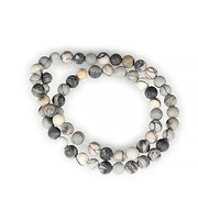 Sirag Picasso jasper gri frosted (mat) sfere 6mm