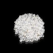 Margele de nisip lucioase 2mm (50g) - cod 750 - alb AB