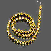 Sirag hematit auriu deschis sfere 6mm