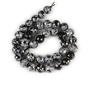 Sirag snowflake obsidian sfere fatetate 10mm