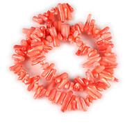 Sirag coral rosu tepi 4x8-18mm