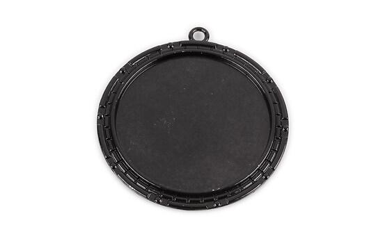 Baza cabochon negru lucios  54x49mm, interior 40mm