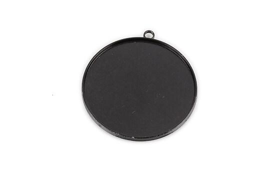 Baza cabochon negru lucios  45x41mm, interior 40mm