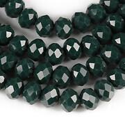Sirag cristale rondele 6x8mm - verde inchis