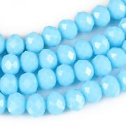 Sirag cristale rondele 6x8mm - albastru