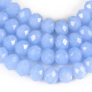 Sirag cristale rondele 6x8mm - albastru opalescent
