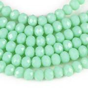 Sirag cristale rondele 4x6mm - verde turcoaz
