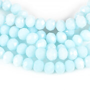 Sirag cristale rondele 4x6mm - bleu