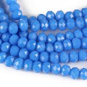 Sirag cristale rondele 4x6mm - albastru