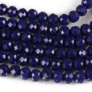 Sirag cristale rondele 4x6mm - albastru inchis