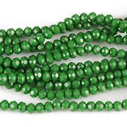 Sirag cristale rondele 2,5x3,5mm - verde