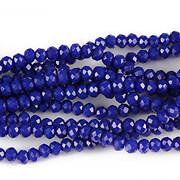 Sirag cristale rondele 2,5x3,5mm - albastru inchis
