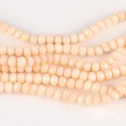 Sirag cristale rondele 2,5x3,5mm - nude ivory