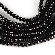 Sirag cristale rondele 2,5x3,5mm - negru