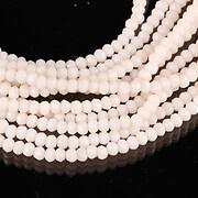 Sirag cristale rondele 2x3mm - nude ivory