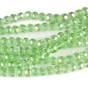 Sirag cristale rotunde 4mm - AB verde deschis