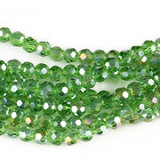 Sirag cristale rotunde 4mm - AB verde