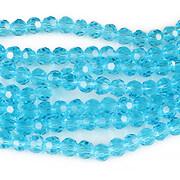 Sirag cristale rotunde 4mm - bleu