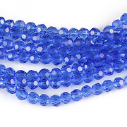 Sirag cristale rotunde 4mm - albastru safir