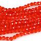 Sirag cristale rotunde 4mm - portocaliu
