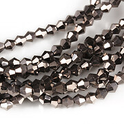 Sirag cristale biconice 4mm - electroplacat negru