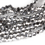 Sirag cristale biconice 4mm - electroplacat argintiu