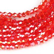 Sirag cristale biconice 4mm - rosu AB